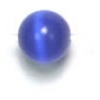 "Cat Eye Beads 4mm Round Dark Blue Strung 16"" Fibre Optic"